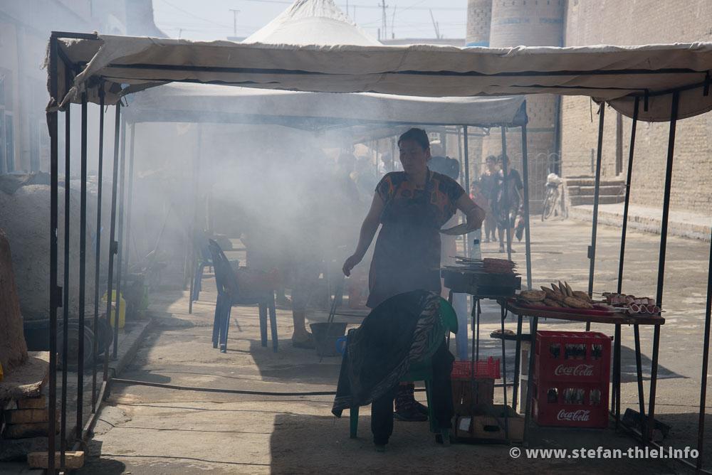 Schaschlik in Xiva (und auch sonst überall in Usbekistan)