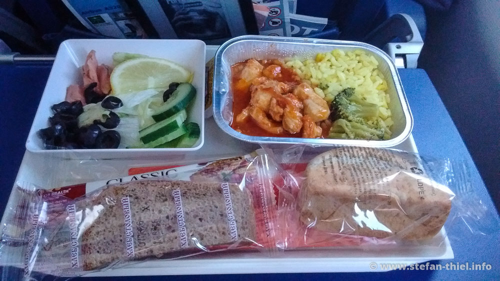 Haute Cuisine à la Aeroflot: Sieht wild aus - war aber essbar