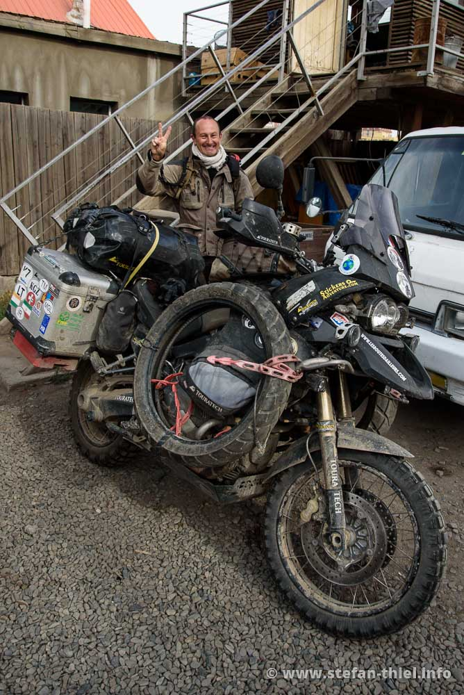 """Wiedersehen in Ulan Bator. Die Adventure von Thierry ist immer noch """"leicht"""" bepackt"""