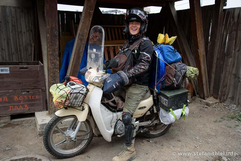 Für eine Fernreise muss es nicht immer eine von Touratech gepimpte Reiseenduro sein. Ein Honda Super Cub reicht auch, um sich seine Träume zu erfüllen.