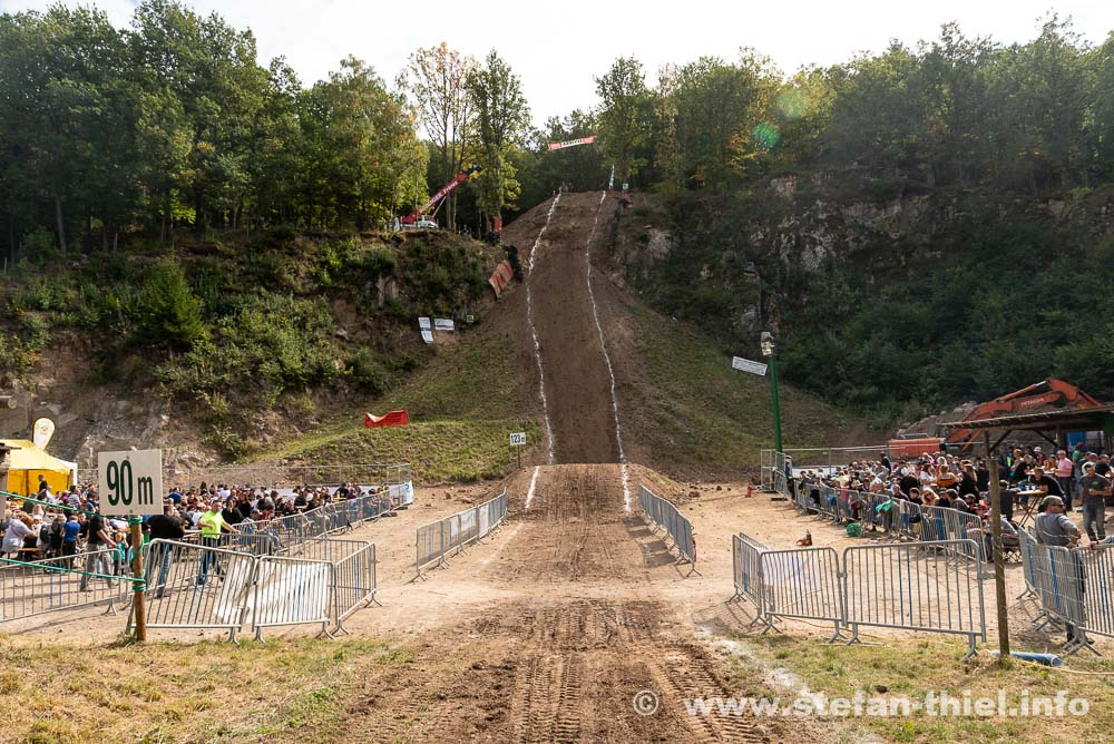 ... oder Hillclimbing in Muhlbach-sur-Munster. Es geht immer extrem steil den Berg hinauf.