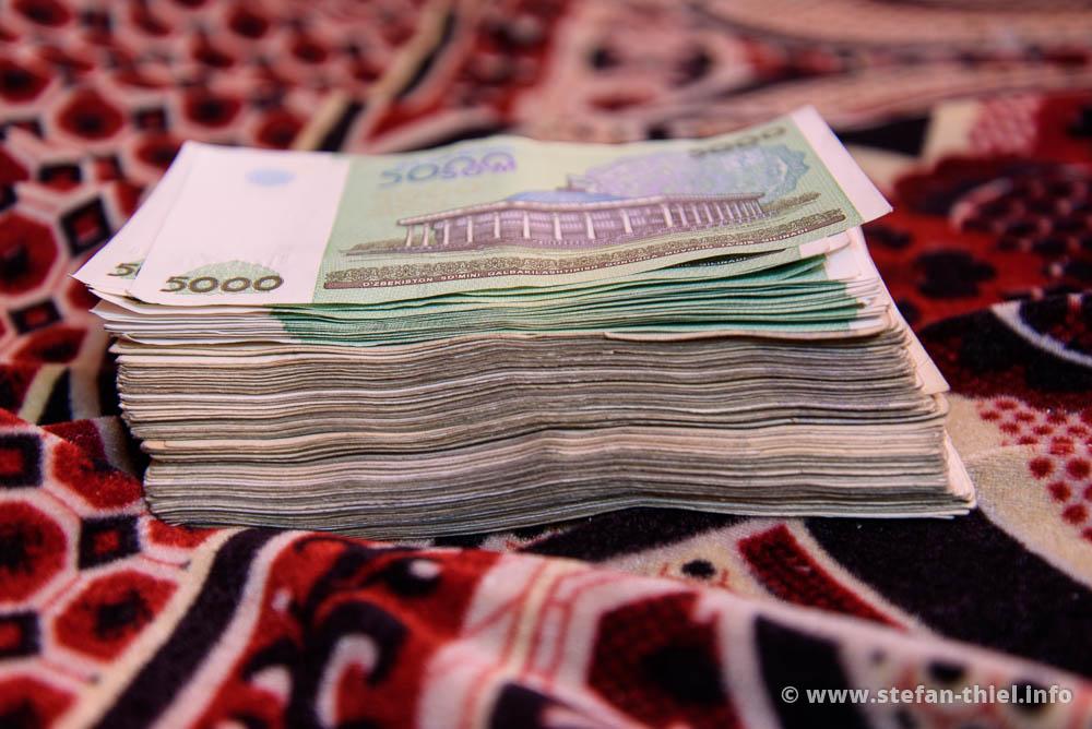 Das wird aus einem 50€ Schein in Usbekistan